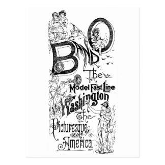 B&O Railroad-The Model Fast Line 1869 Post Cards