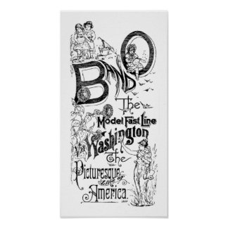 B&O Railroad - The Model Fast Line 1869 Poster