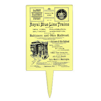 B+O Royal Blue Line Trains 1910 Cake Pick