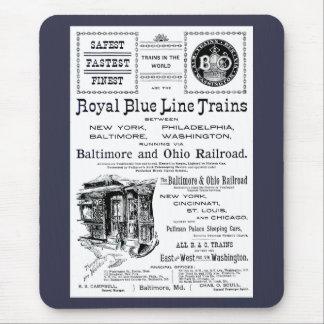 B+O Royal Blue Line Trains 1910 Mouse Pad