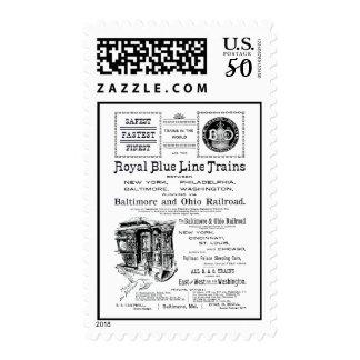 B+O Royal Blue Line Trains 1910 Postage