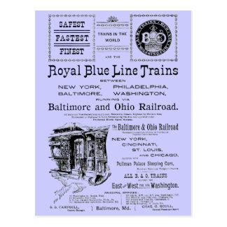 B+O Royal Blue Line Trains 1910 Postcard