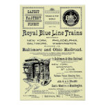 B+O Royal Blue Line Trains 1910 Poster Poster