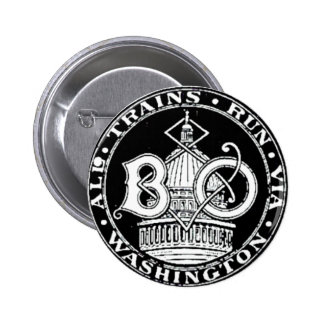 B+O Royal Blue Line Trains 1910 Round Buttons
