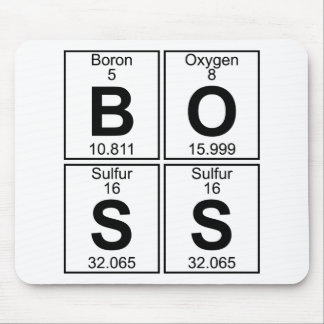 B-O-S-S (boss) - Full Mouse Pad