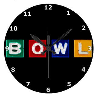 B O W L Letters Large Clock