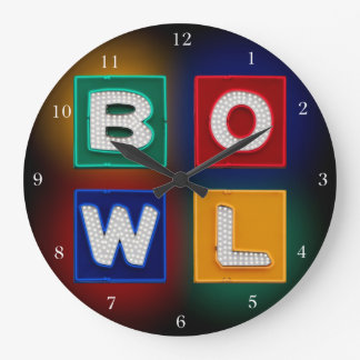 B O W L neon Large Clock