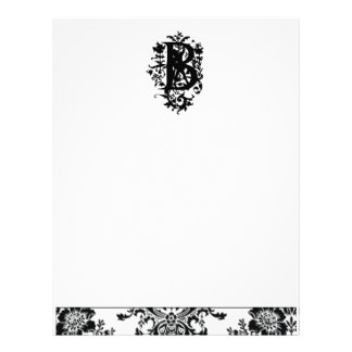 """B"" Ornate Baroque Monogram Letterhead"