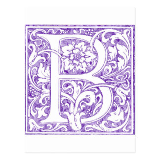 """B"" Ornate Monogram Postcard"