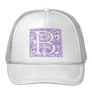 """""""B"""" Ornate Monogram Trucker Hat"""