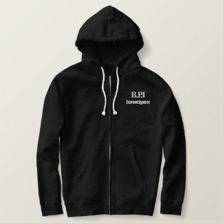 B.P.I Investigator Embroided Zip Hoody
