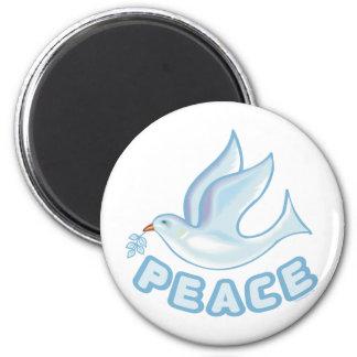 B - Paloma de la paz Imán Redondo 5 Cm