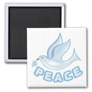 B - Paloma de la paz Imán Cuadrado