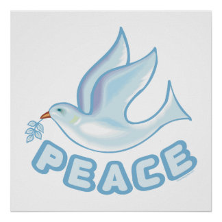 B - Paloma de la paz Poster