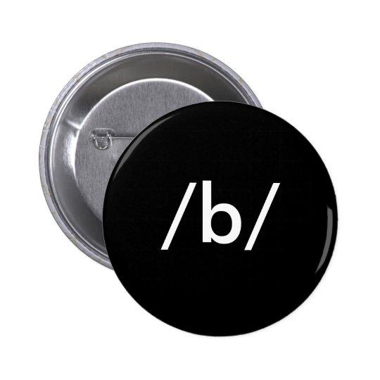 /b/ pinback button