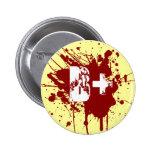 B Positive Blood Type Donation Vampire Zombie Pinback Button