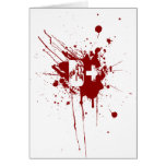 B Positive Blood Type Donation Vampire Zombie Card