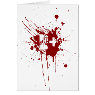B Positive Blood Type Donation Vampire Zombie Greeting Card
