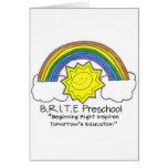 B.R.I.T.E. Preschool Greeting Cards