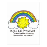B.R.I.T.E. Preschool Post Cards
