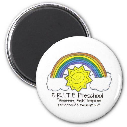 B.R.I.T.E. Preschool Refrigerator Magnet