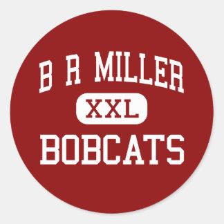 B R Miller - linces - joven - Marshalltown Iowa Pegatina Redonda