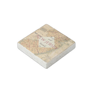 B&R State New Jersey Stone Magnet