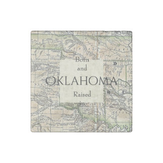 B&R State Oklahoma Stone Magnet