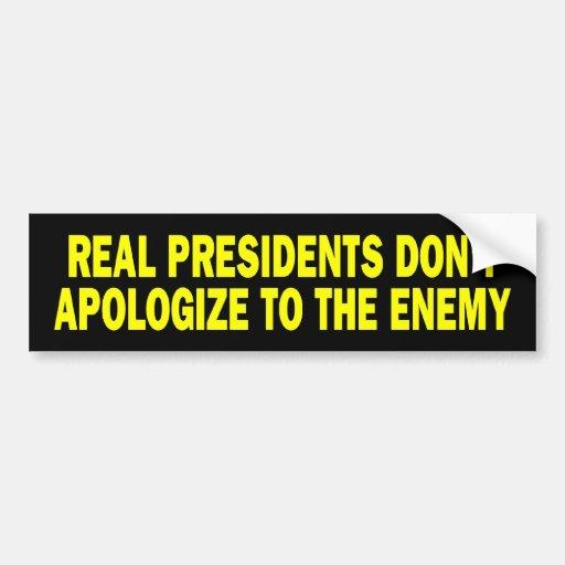 b_realpresidents pegatina de parachoque