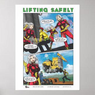 B-Safe Comics - Safe Lifting Poster