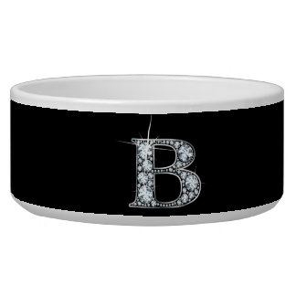 "B Script ""Diamond Bling"" Pet Bowl"