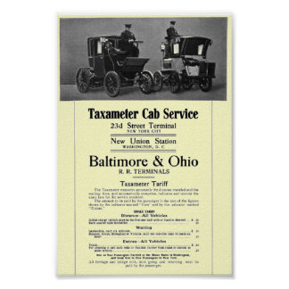 B+Servicio 1908 del taxi de Taxameter del Impresiones