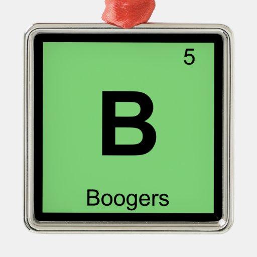 B - Símbolo de la tabla periódica de la química de Ornamento Para Reyes Magos