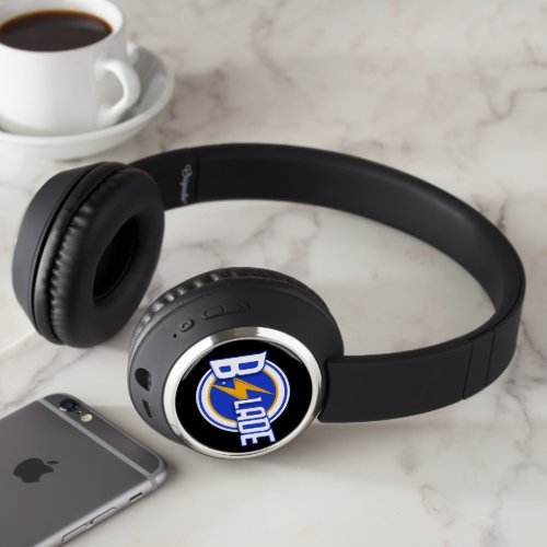 B.Slade - Bleu Logo Bluetooth Headphones