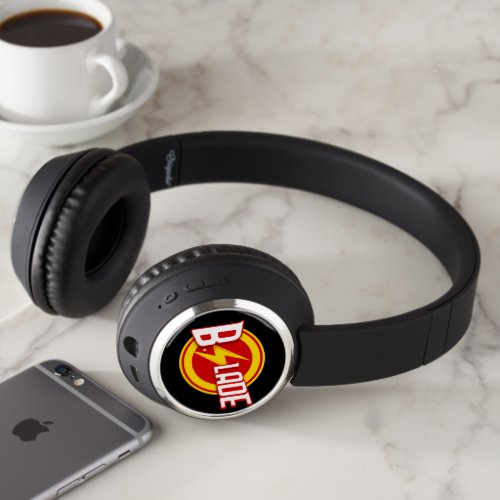 B.Slade - Red & Yellow Logo Bluetooth Headphones