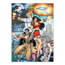 al rio, thomas mason, action, adventure, crime, detective, comics, comic book, art, illustration, Invitation with custom graphic design