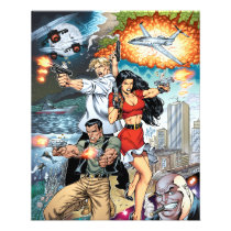 al rio, thomas mason, action, adventure, crime, detective, comics, comic book, art, illustration, Flyer with custom graphic design
