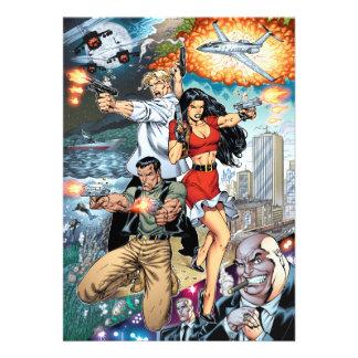 B stard Stew Action Comic Art by Al Rio Personalized Invite