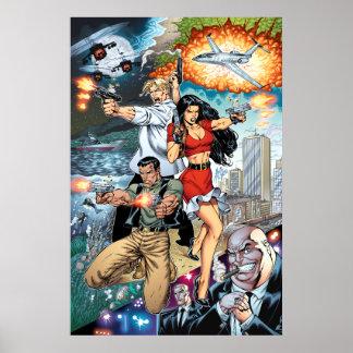 B@stard Stew Action Comic Art by Al Rio Poster