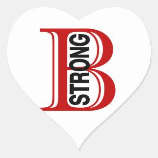 B Strong Boston Heart Sticker