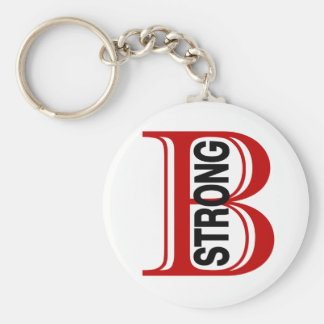 B Strong Boston Keychain