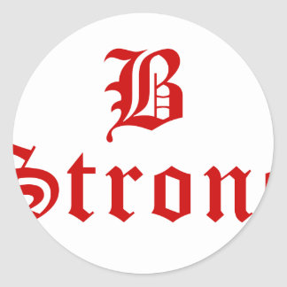 b-strong-old-l-brown.png classic round sticker