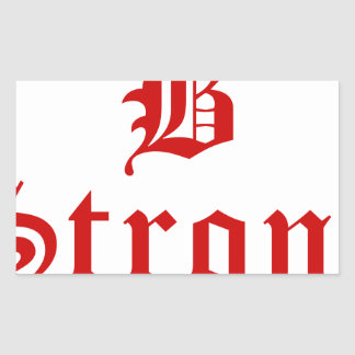 b-strong-old-l-brown.png rectangular sticker