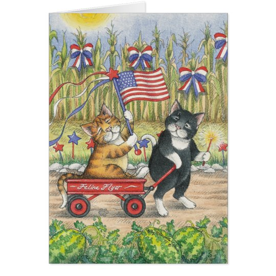 B & T #19 July 4th Note Card