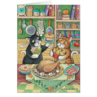B & T #23 Thanksgiving Note Stationery Note Card