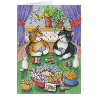 B & T #26 Poker Invite Note Stationery Note Card