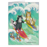 B & T #38 Surfing Note Greeting Cards