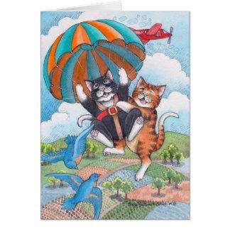 B & T #57 Parachute Birthday Note Card