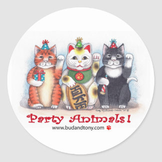 B & T #62 Party Animals Stickers