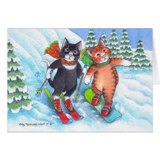 B & T #67 Ski/Snowboard Christmas Notecard Card